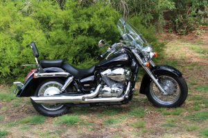 Black 2017 Honda Shadow Aero